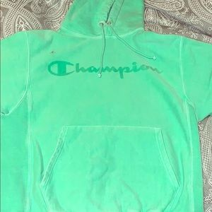 GREEN CHAMPION HOODIE